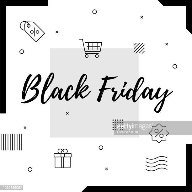 black friday retro web banner for social media - friday stock illustrations, clip art, cartoons, & icons