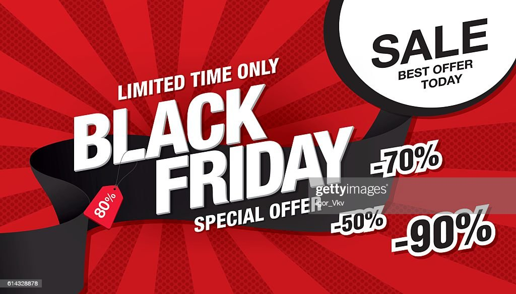 Black friday sale banner template design