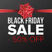 Black Friday Sale Banner Vector. Business Advertising Illustration. Template Design For Web, Flyer, Black Friday Card, Advertising