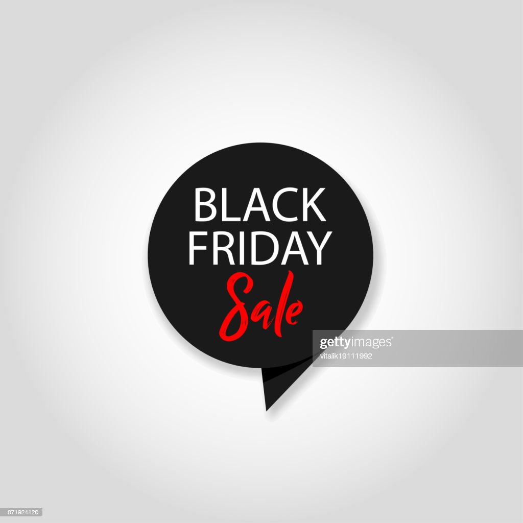 Black Friday sale black tag, grey background