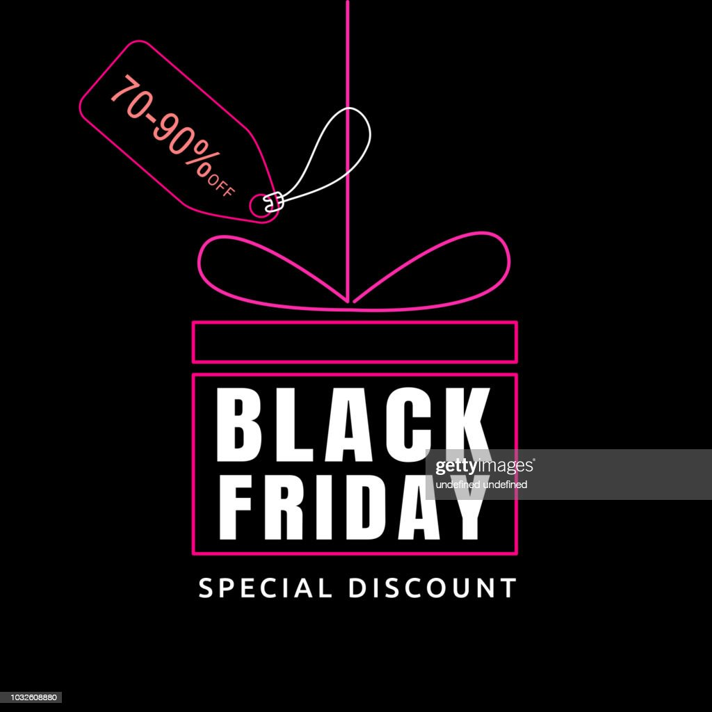 Black Friday sale design template. banner tag.