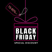 Black Friday sale design template. banner tag.