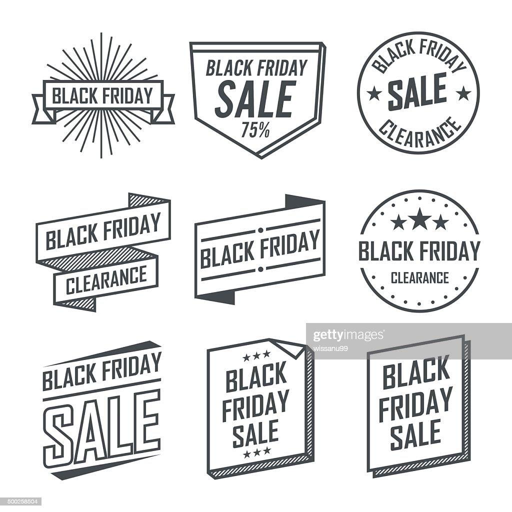 Black Friday, Sale Emblem Designs