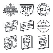 Black Friday, Sale Emblem Designs