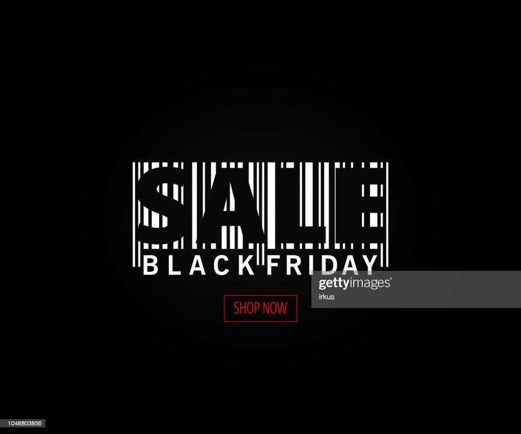 Black Friday sale inscription design template. Black Friday banner. Vector illustration.