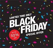Black friday. Sale. Label