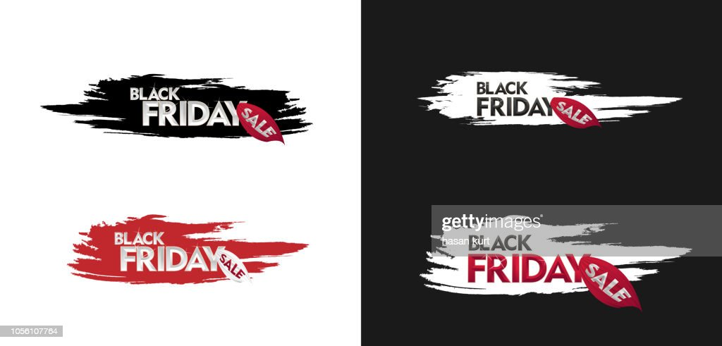 Black Friday Sale label. Vector illustration. 3d Design elements for sale banners, posters, cards