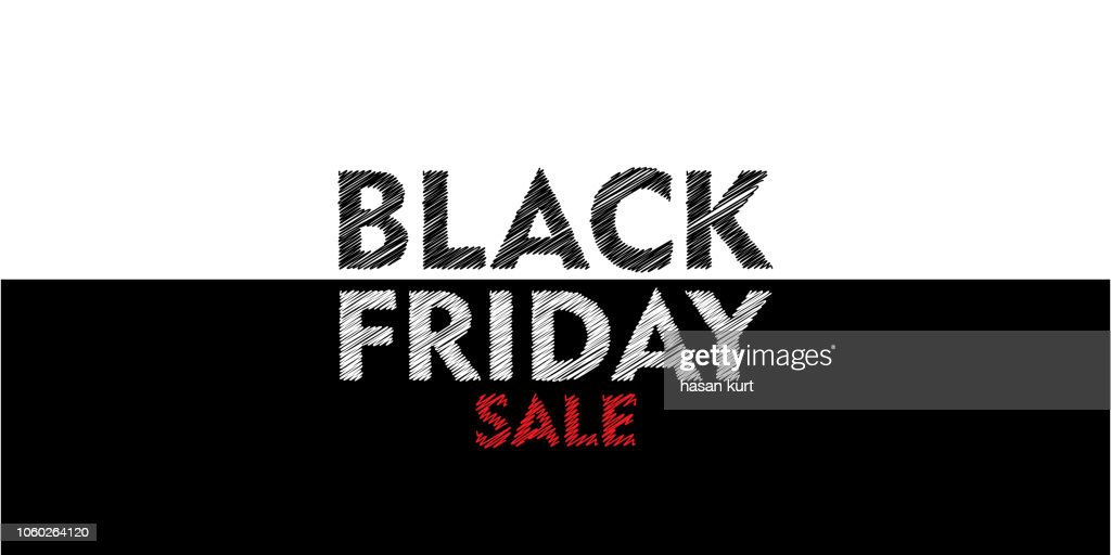 Black Friday Sale label. Vector illustration. Brush Design elements banner