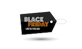 Black Friday sale price label design template