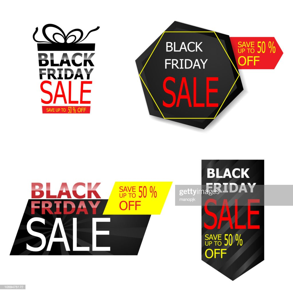 black friday sale price tag and label