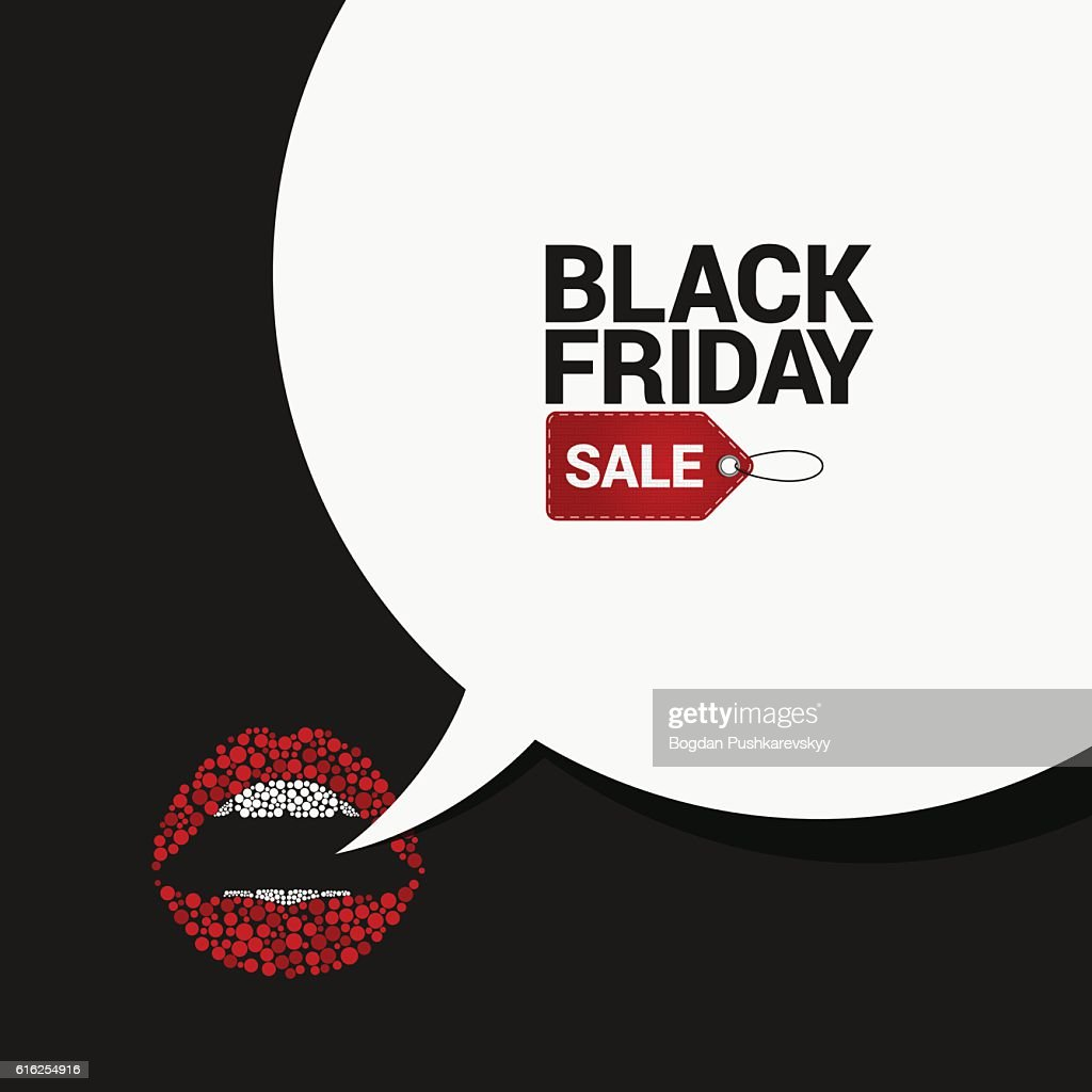 Black Friday sale speech bubble background : Arte vetorial