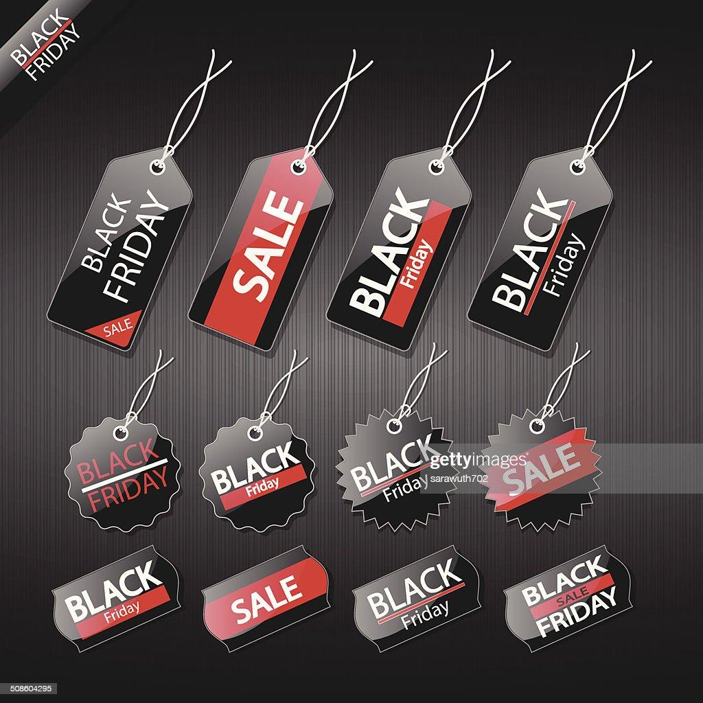 Preto sexta-feira venda tag design. : Arte vetorial