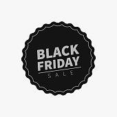 Black Friday sale tag.