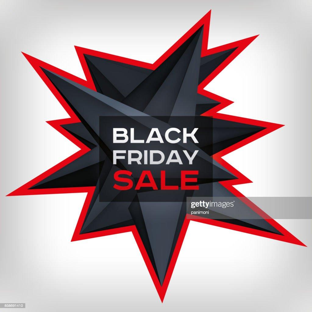 Black Friday Sale Volume Geometric Shape 3d Levitation Black