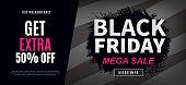 Black Friday Sale Web Banner Design Template
