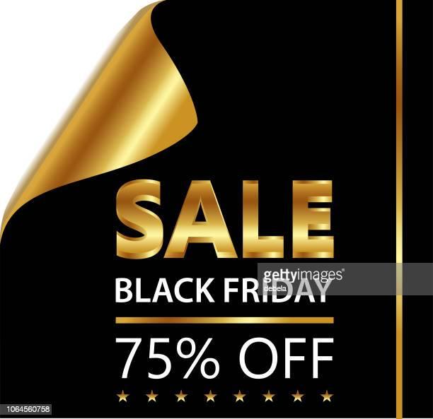 Black Friday Seventy Five Percent Sale On Golden Black Curled Luxury Paper