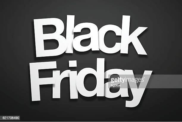 ilustraciones, imágenes clip art, dibujos animados e iconos de stock de black friday sign with black background - paper font - black friday