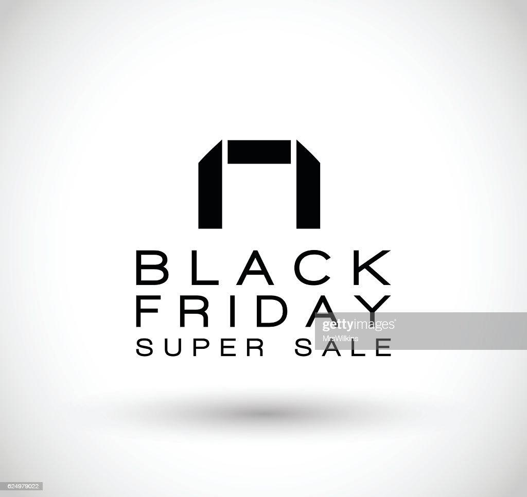Black Friday vector poster banner