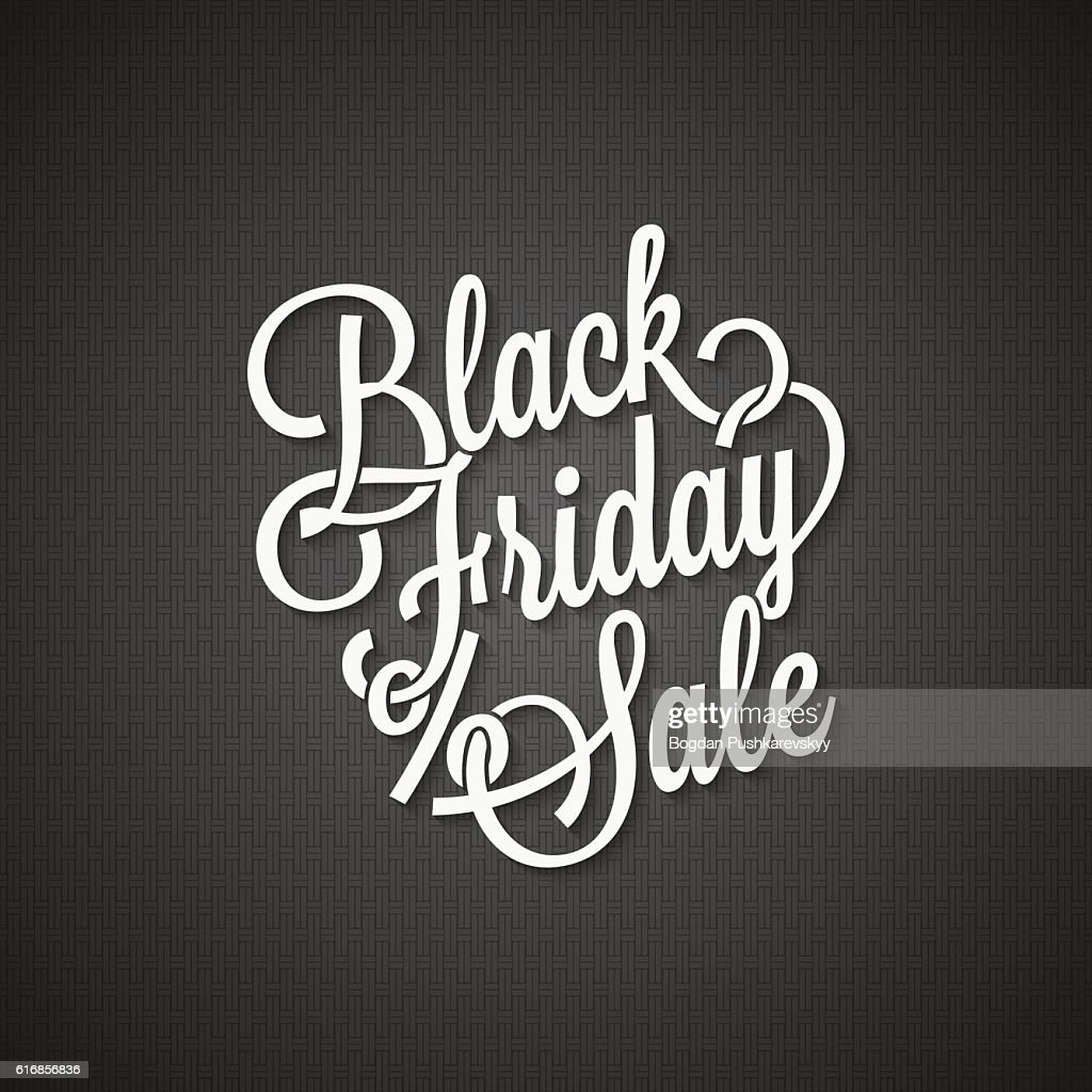 black friday vintage lettering background : Vector Art