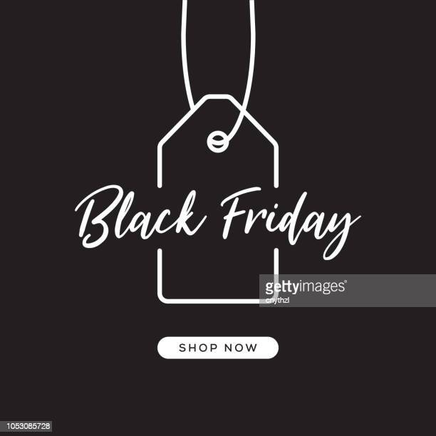 black friday web banner design - retail stock illustrations