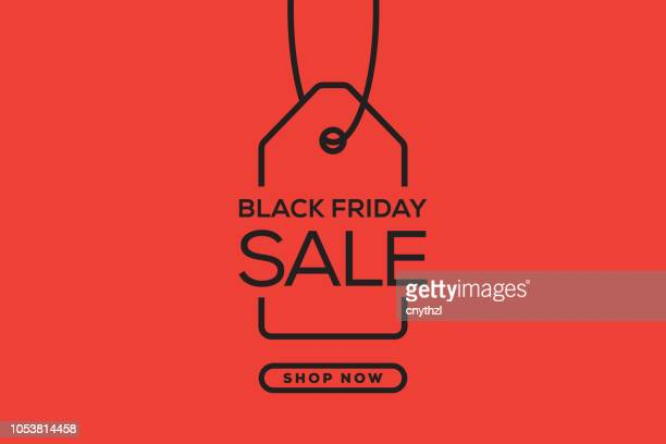 illustrazioni stock, clip art, cartoni animati e icone di tendenza di black friday web banner design - saldi