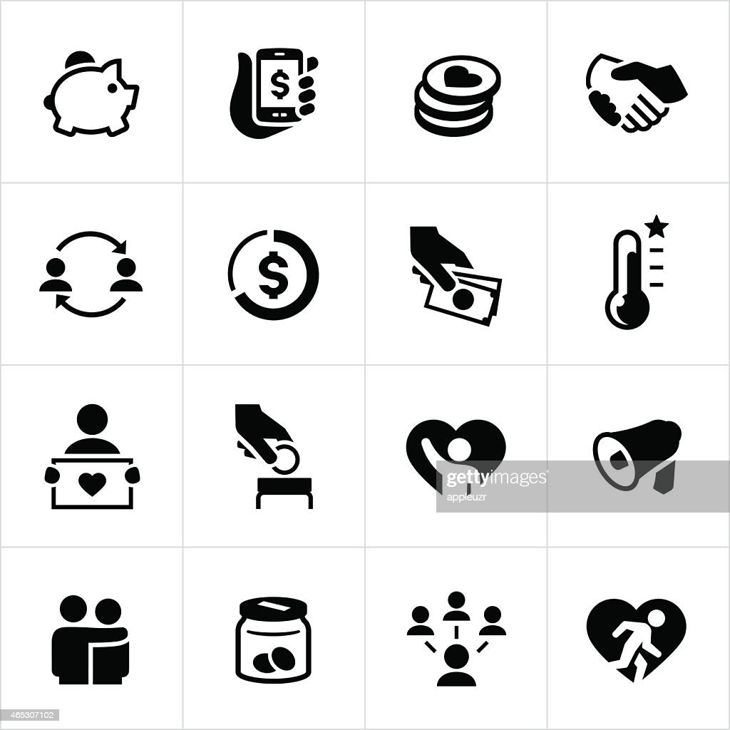 Charity icons circle line series vector art getty images keywords biocorpaavc
