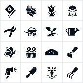 Black Gardening Icons