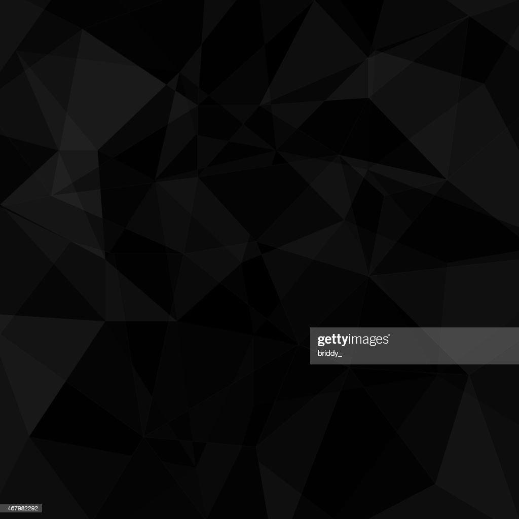 Black geometric triangle background