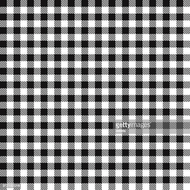 ブラック ギンガム チェック布生地パターン - ギンガムチェック点のイラスト素材/クリップアート素材/マンガ素材/アイコン素材
