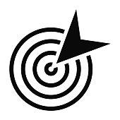 black goal icon