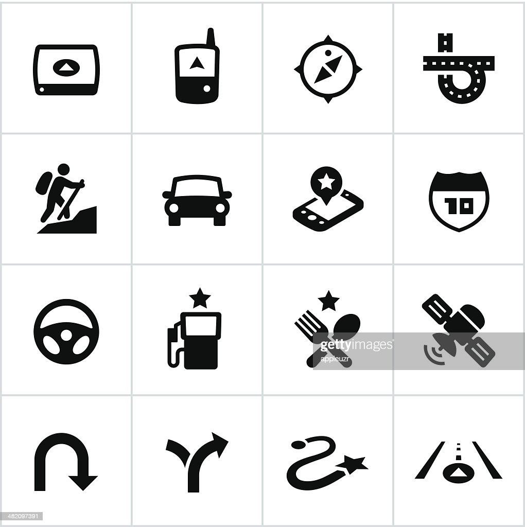 Black GPS Icons