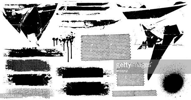 black grunge marks - paint textures stock illustrations