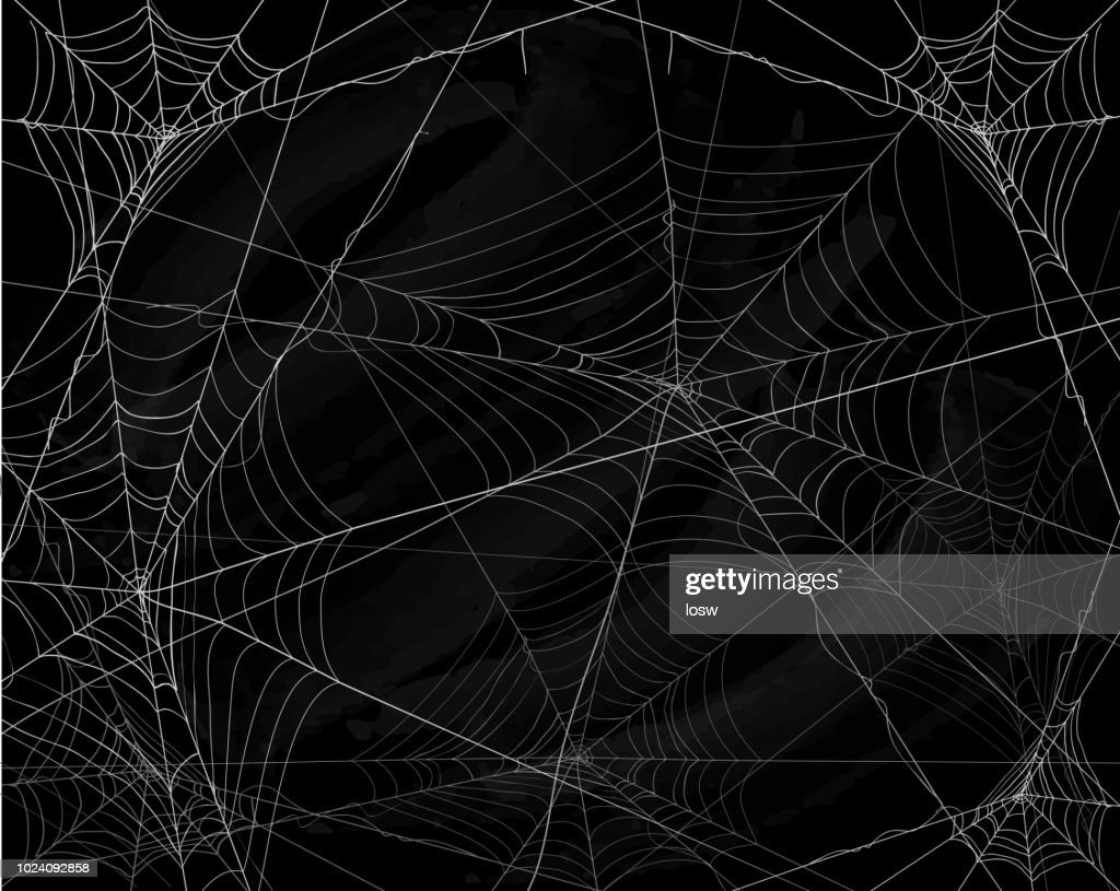 Black Halloween background with spiderwebs