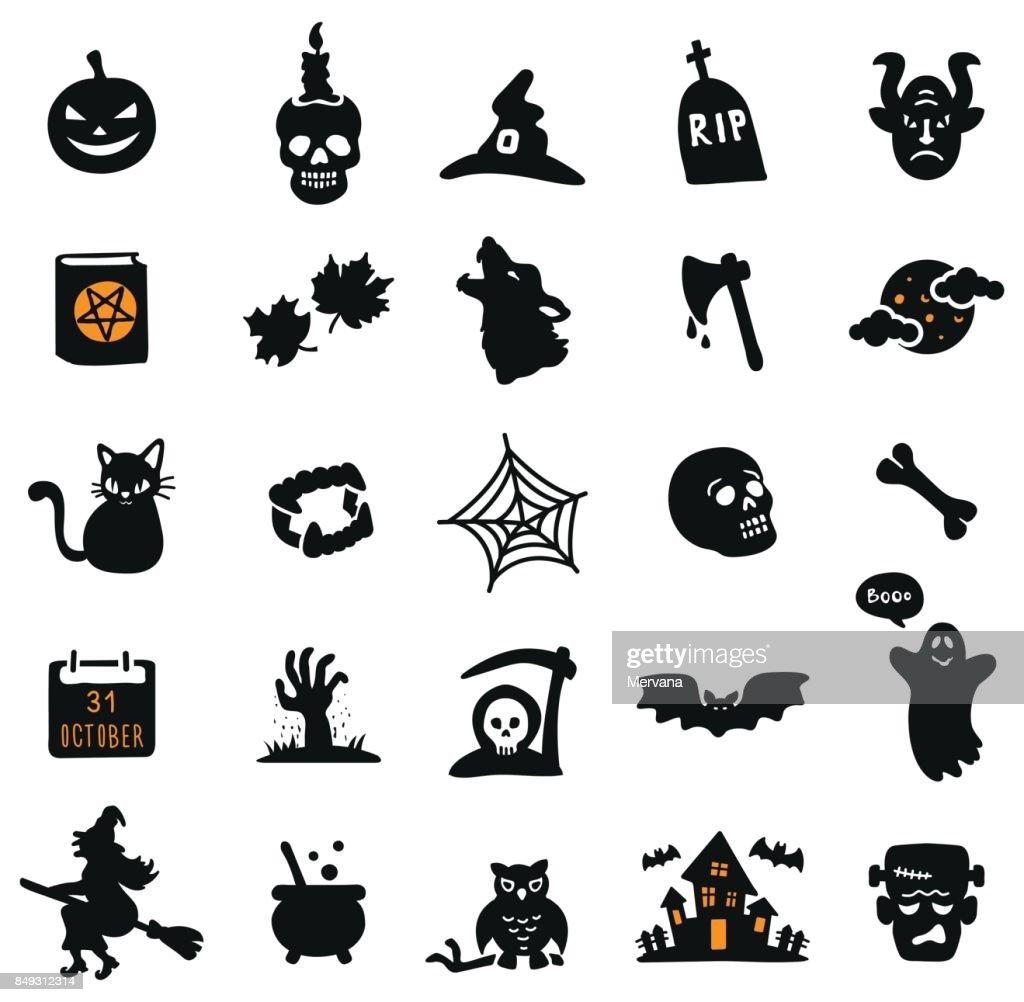 Black Halloween Icons