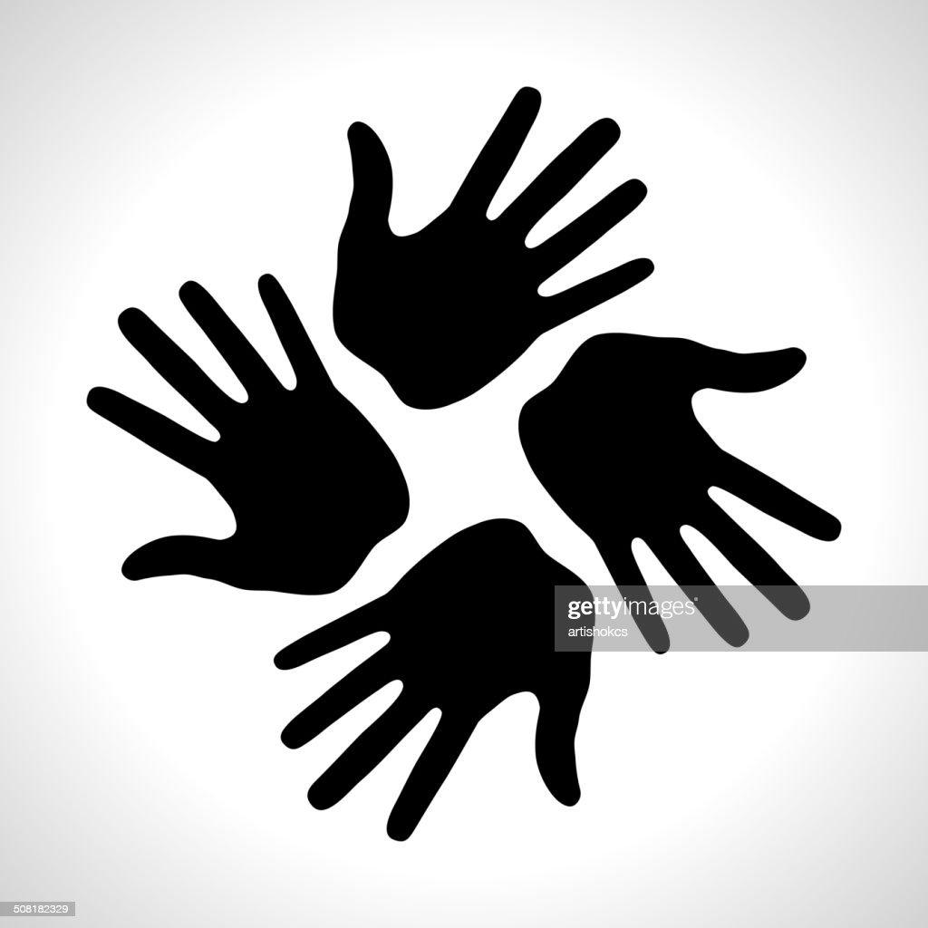 Black Hand Print icon