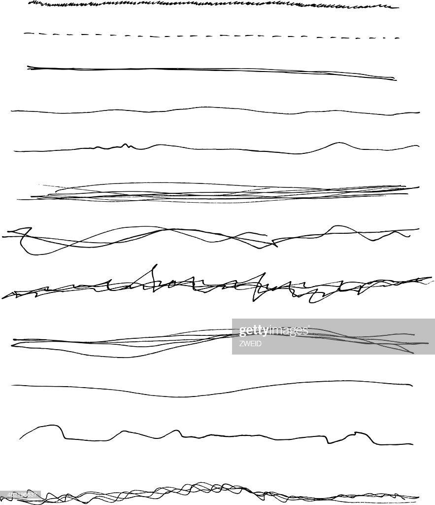 Black Handemade Lines