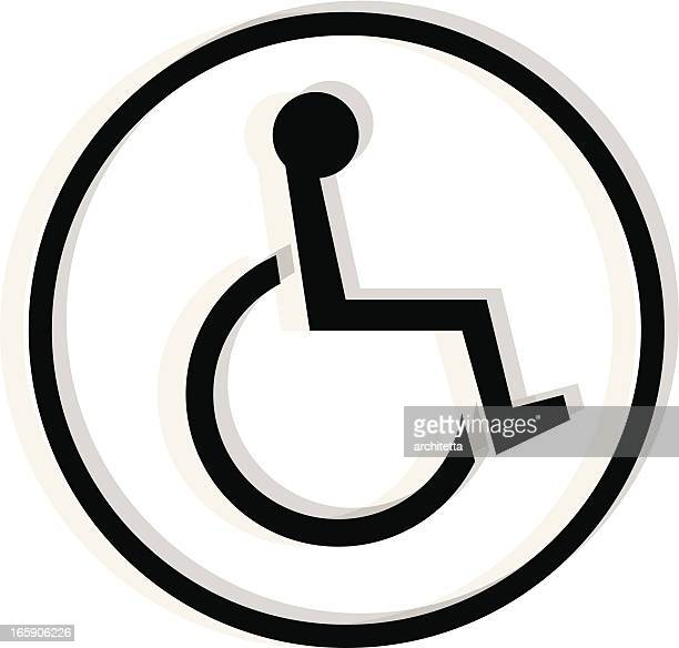 black handicapped icon