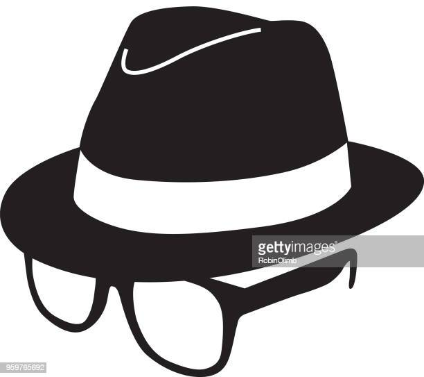 Black Hat And Glasses Icon