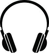 Black headphones icon