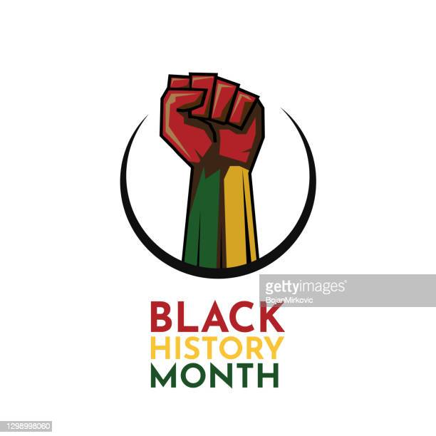 black history month card. vector - black history month stock illustrations