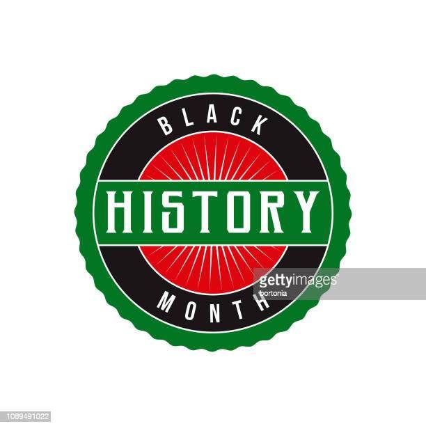 Black History Month Label