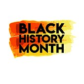 Black History Month Logo Vector Template Design