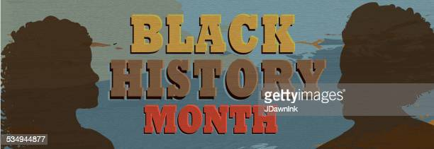 black history month poster design with lot's of texture banner - black history month stock illustrations