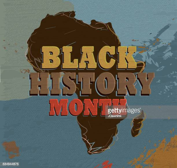 Black History month poster design with lot's of texture