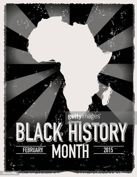 black history month poster design with lot's of texture - black history month stock illustrations