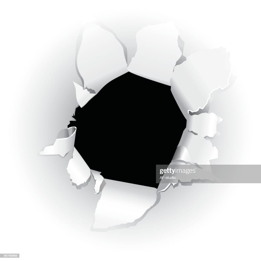 Black hole in paper