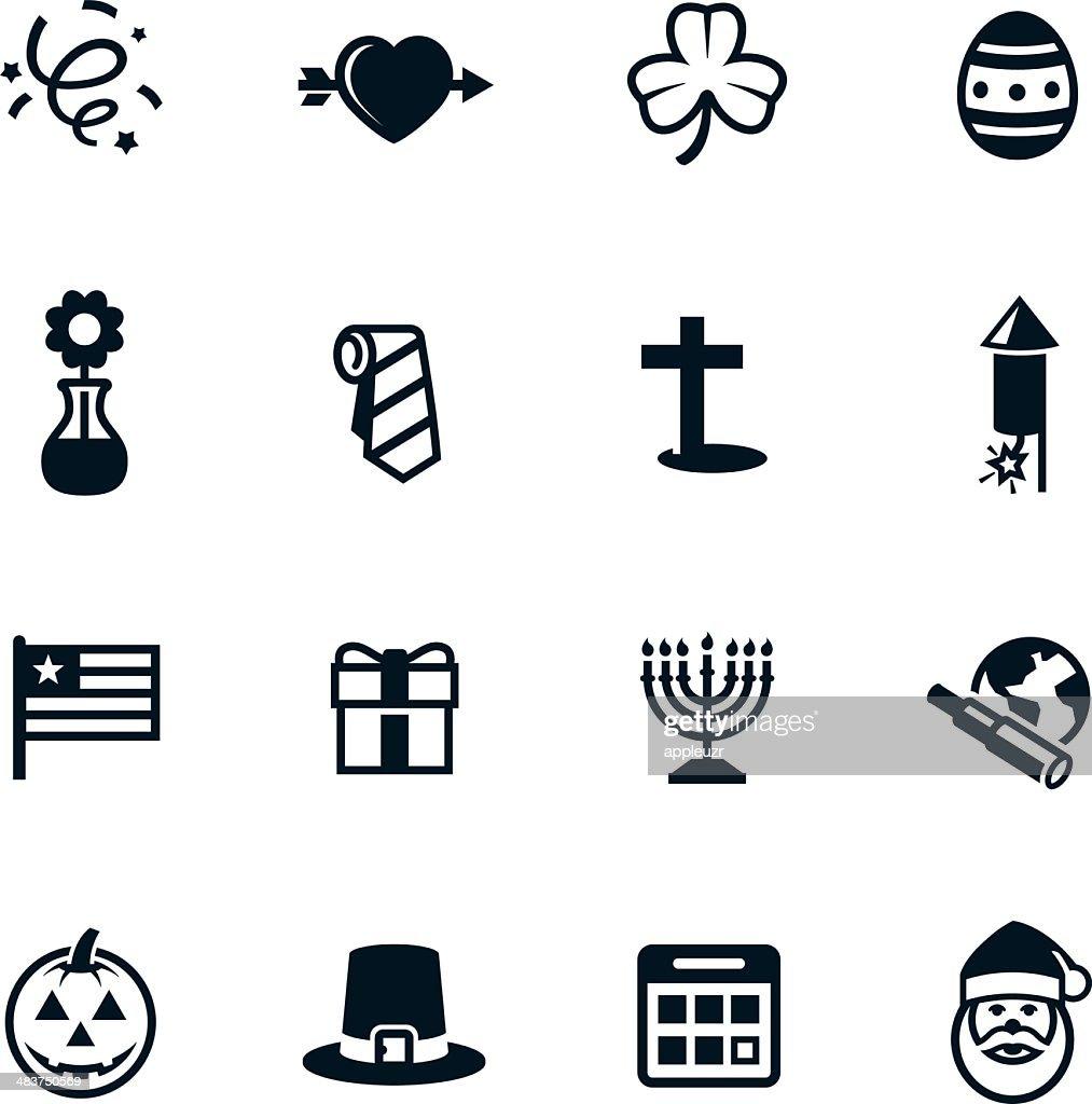 Black Holiday Icons