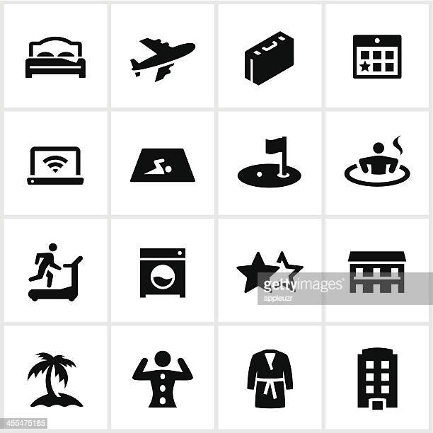 Black Hotel Icons