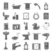 Black Icons - Bathroom Elements