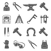 Black Icons - Blacksmith Tools